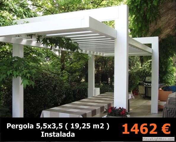Ofertas en porches de madera p rgolas de madera for Tejados madera blanca